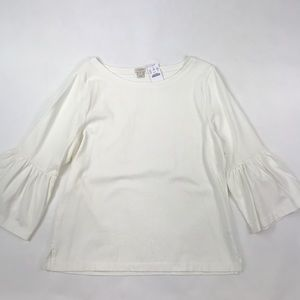 J. Crew Cream Bell Sleeve Sweater